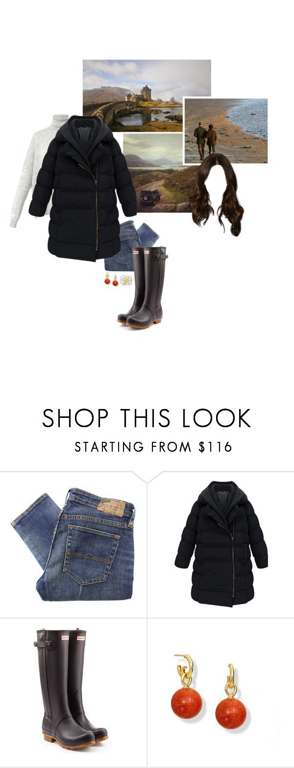 """""""Untitled #2184"""" by duchessq ❤ liked on Polyvore featuring MaxMara, Denim & Supply by Ralph Lauren and Hunter"""