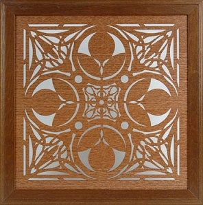 Frank Lloyd Wright. Framed art adapted from a wooden fretwork door in the Nathan G. Moore House 1923
