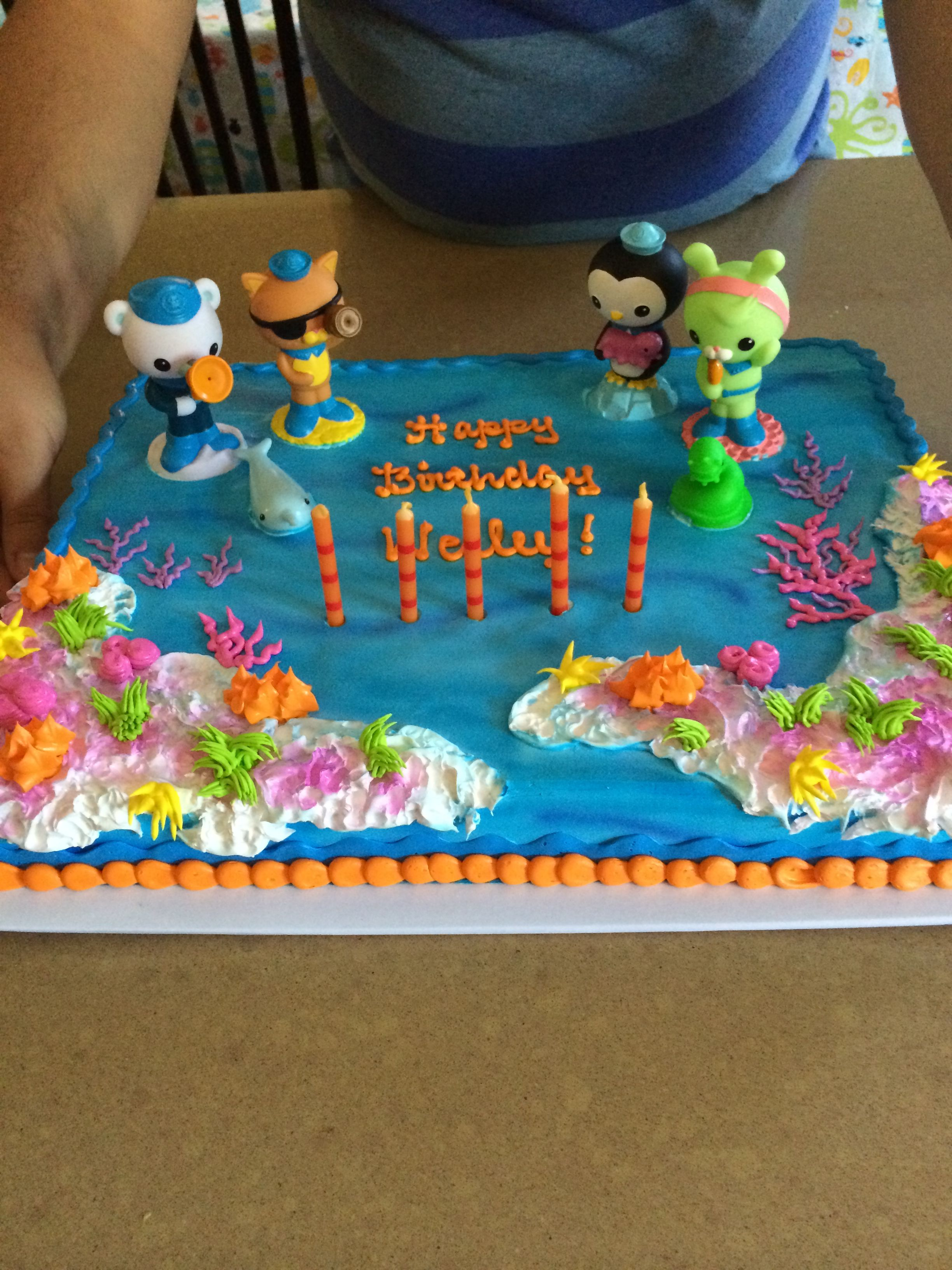 Finding nemo cake from target with octonaut squirters
