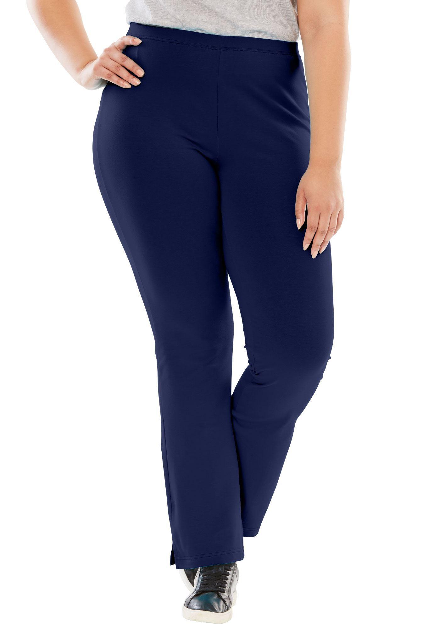 a2bb1ebddef26 Stretch Cotton Bootcut Yoga Pant - Women's Plus Size Clothing ...