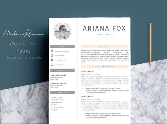 Resume Template 4 Pages Resume Templates - Business Resume