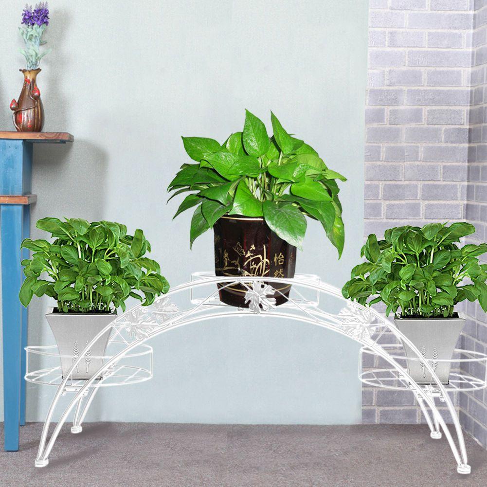 Metal Floor-Standing Wrought Iron Pot Plant Stand Flower Planter 8 ...