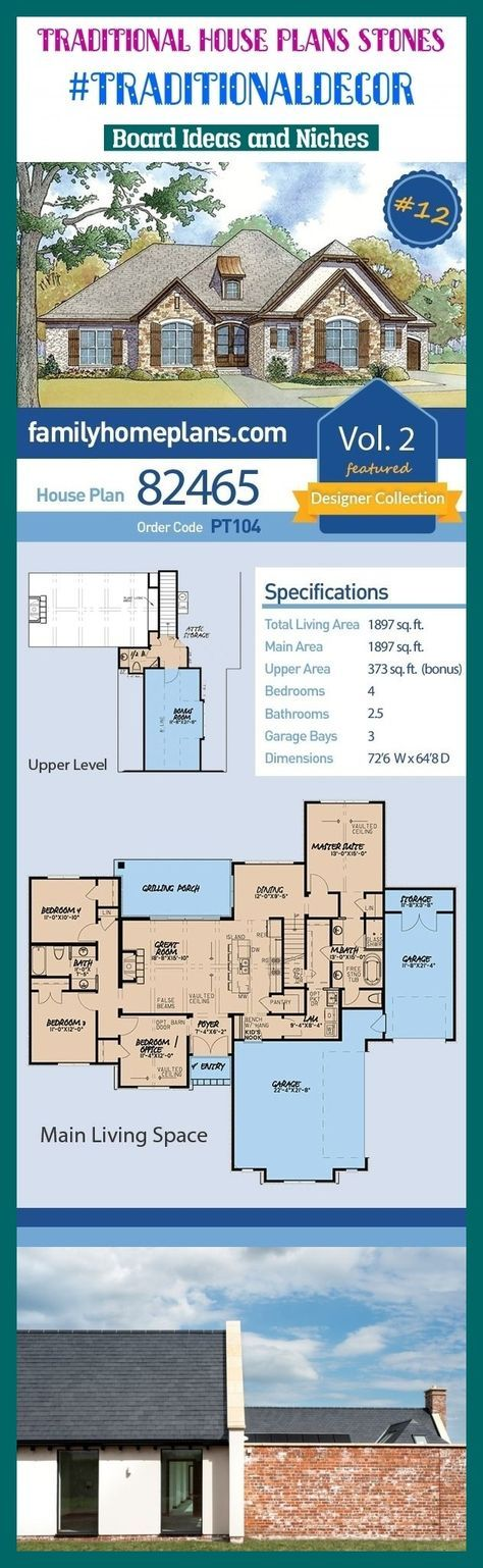 68 Trendy Modern Ranch House Plans Traditional House Plans Southern House Plans Traditional House