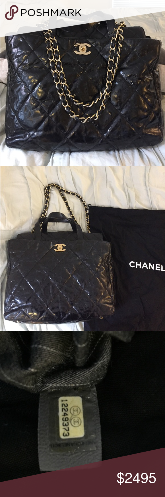 3a7c09ce9bbe Authentic Chanel Portobello Tote Authentic Chanel Portobello style tote bag  purchased from Saks a few years