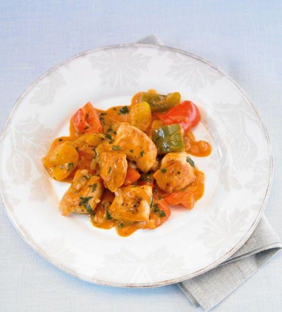 Hähnchen-Paprika-Gulasch Rezept