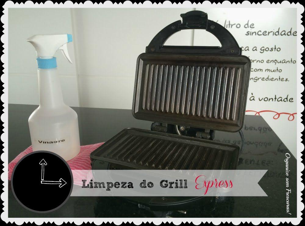 Limpeza do grill (ou sanduicheira) express