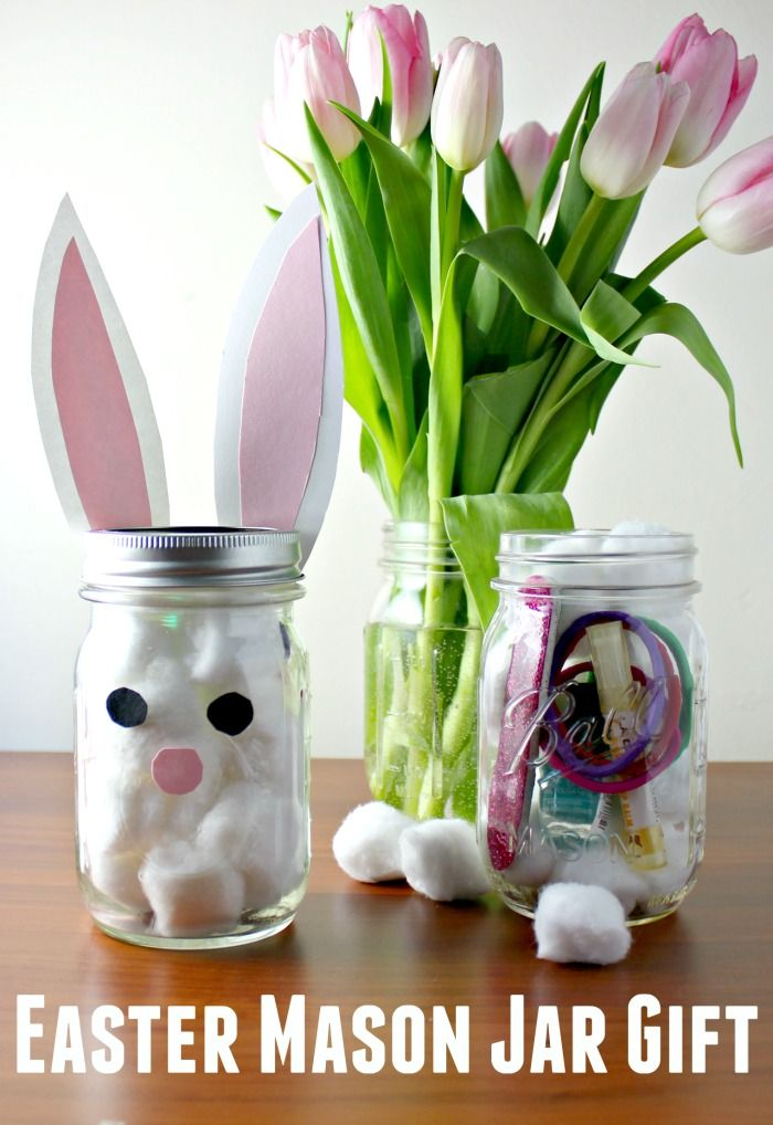 How to make an easy easter bunny mason jar gift easter bunny how to make an easy easter bunny mason jar gift negle Images