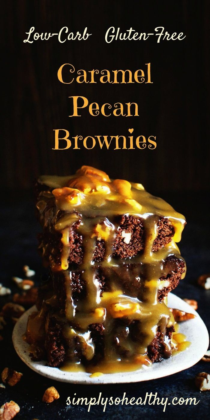 Caramel Pecan Brownies Recipe - Simply So Healthy These Low-Carb seem indulgent, but this recipe ca