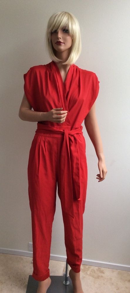 French Rendez Void red jumpsuit NWT size 6 #FrenchRendezVous #Jumpsuit