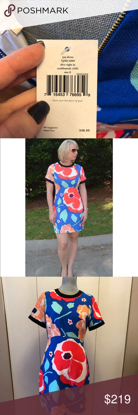 Kate spade JAQ DRESS featuring a poppy floral print on a ...