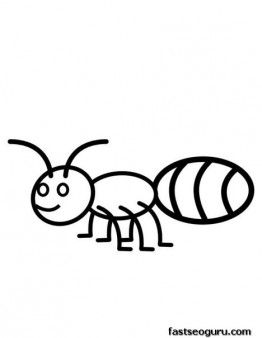 Printable Animal Ant coloring pages for kids Diligence We Choose