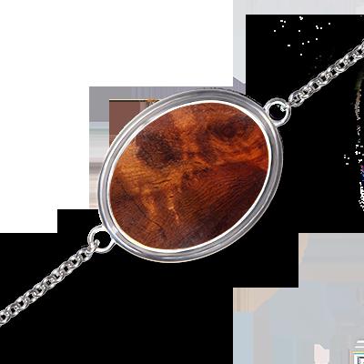 Bijou - Bracelet Solitaire en Amboine rouge