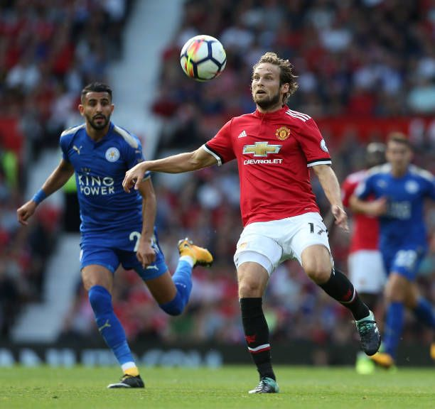 Daley Blind Wallpaper: Daley Blind Of Manchester United In Action With Riyad