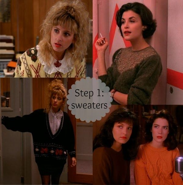 Who Dressed Laura Palmer? 3 Steps to Twin Peaks Style #twin peaks #90sfashion #sweaters #audreyhorne #laraflynnboyle