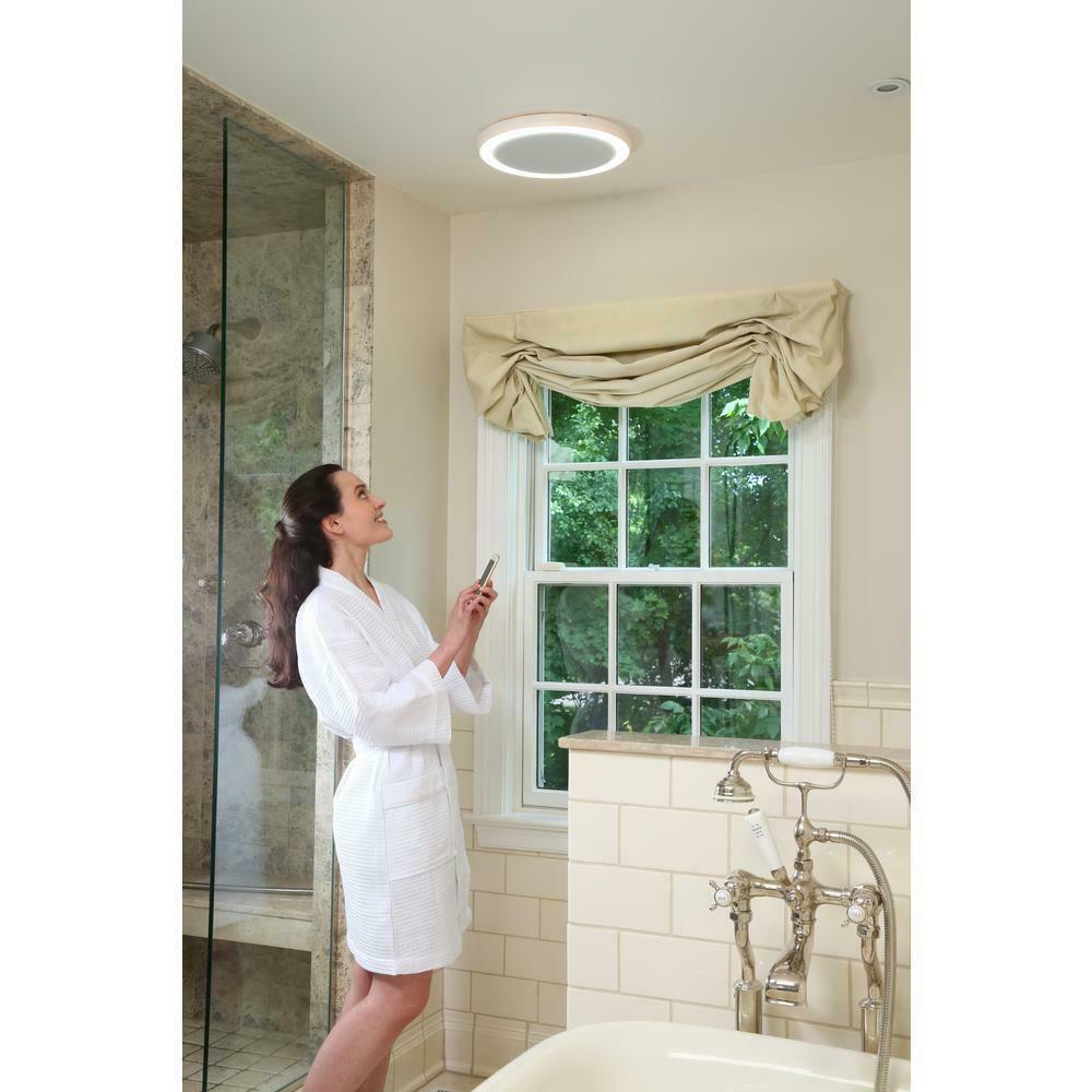 Circular Bathroom Vent Fan Led Light 100 Cfm Bluetooth Stereo Speakers Remote Ebay Bathroom Exhaust Fan Exhaust Fan Bathroom Exhaust