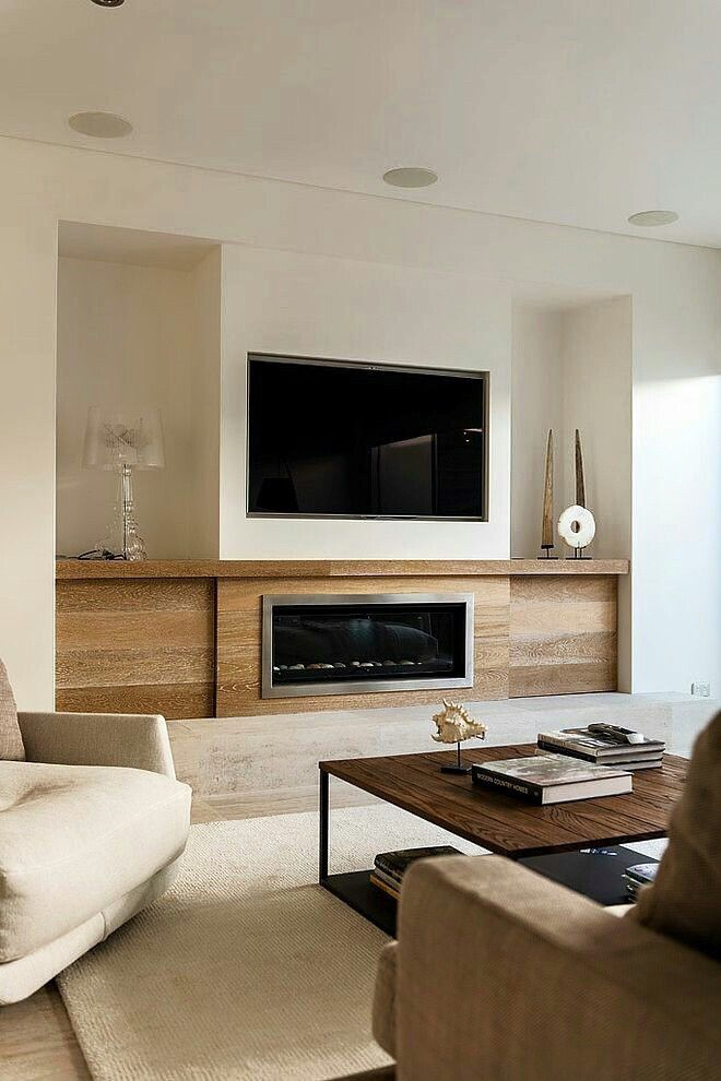 Idea For Contemporary Modern Style Fireplace With Tv Above It Modernhome