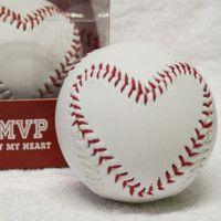 Hallmark MVP of My HEART Stitched BASEBALL. So cute!   Baseball ...