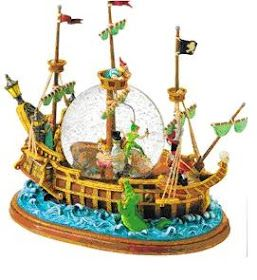 Disney Snow globes Collectors Guide: Peter Pan Pirate Ship. OOOOOHHHH I have one of these!