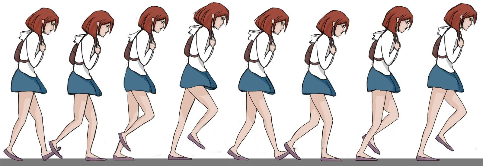 2d Animation Character Design Tutorial : Best walk cycle animation videos and keyframe