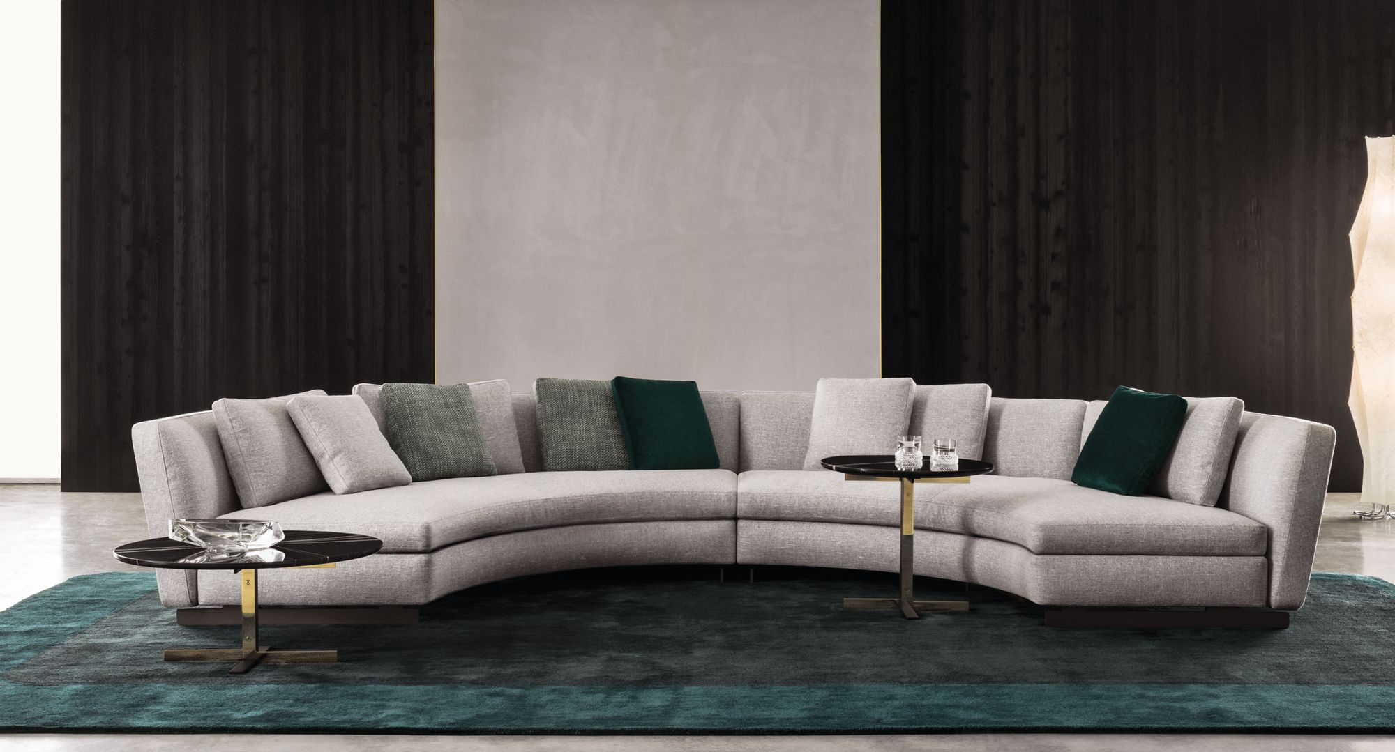 modern round lounge sofa rattan and chair sets upholstered seymour by minotti design rodolfo