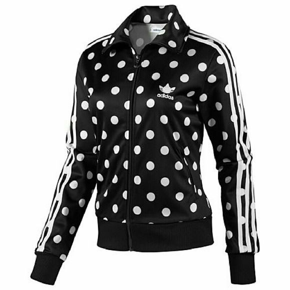Adidas originals polka dots firebird track jacket Adidas originals polka dots firebird track jacket. Size L Adidas Sweaters