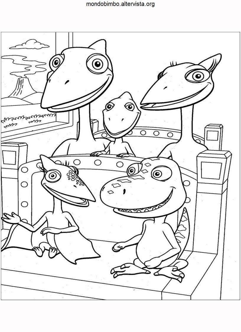 Nuovo Il Treno Dei Dinosauri Da Colorare Darmowe kolorowanki