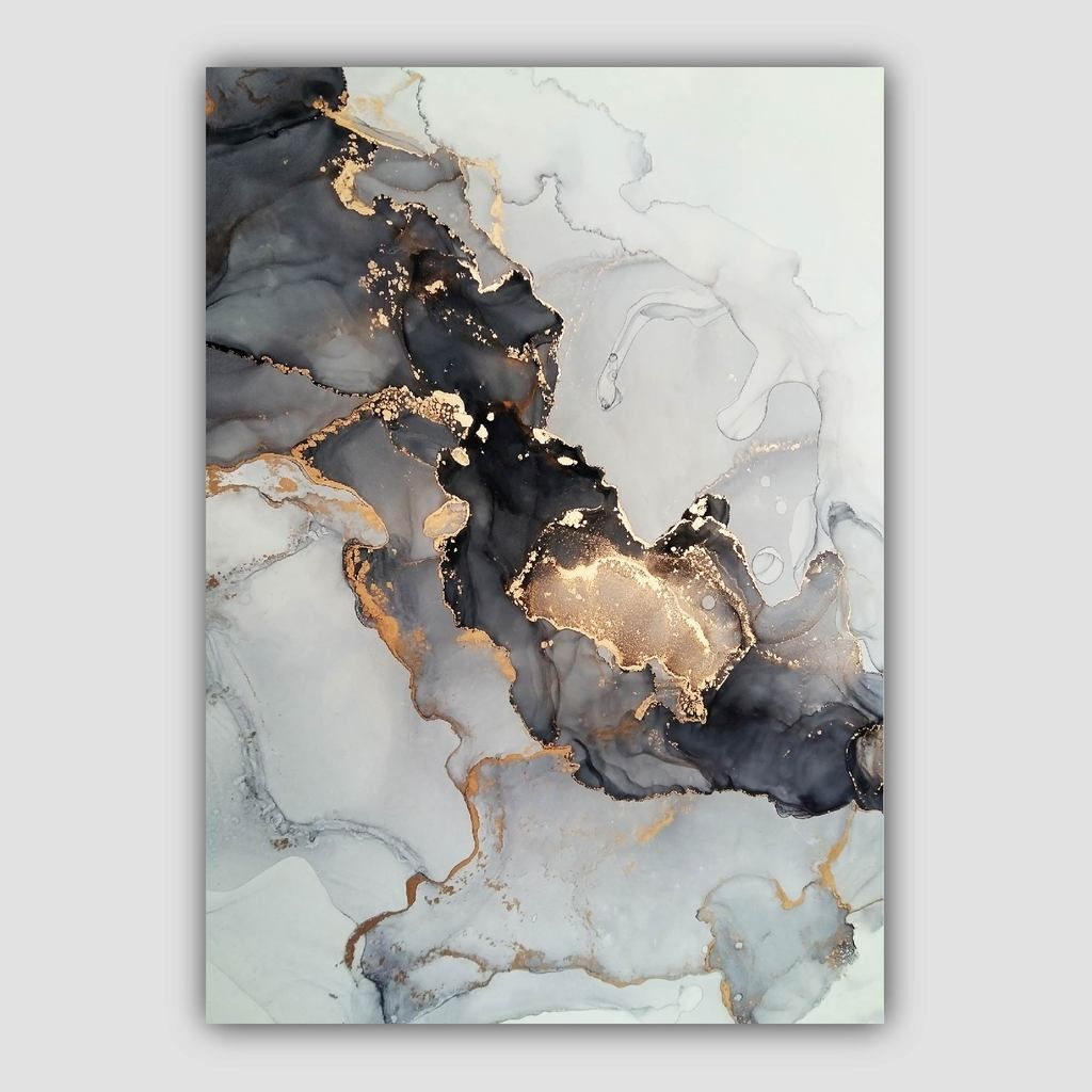 Set Of 3 Abstract Art Prints Of Paintings Black Grey And Gold Artze Wall Art Abstract Art Prints Gold Abstract Painting Abstract Art Painting