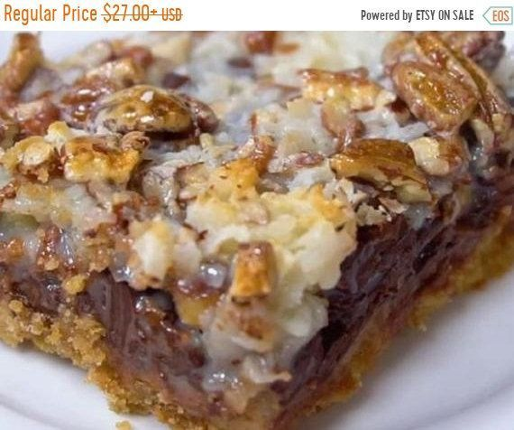 Ooey Gooey Coconut Cookie Bars, w/ or w/o Nuts