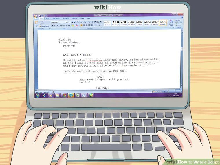 Write a Script Writing, Script, Movie stars