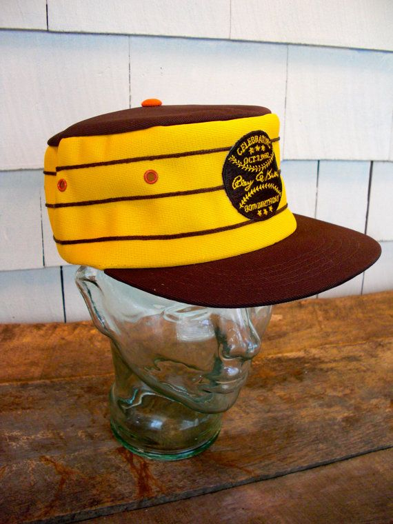 Vintage San Diego Padres Hat Ray A Kroc 80th Birthday Baseball Cap Mens Gold Yellow Brown 1980s Via Etsy