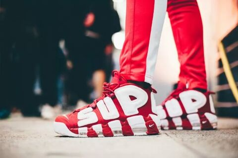 uk availability 9f0cb 9c8d6 Supreme x Nike air more uptempo red