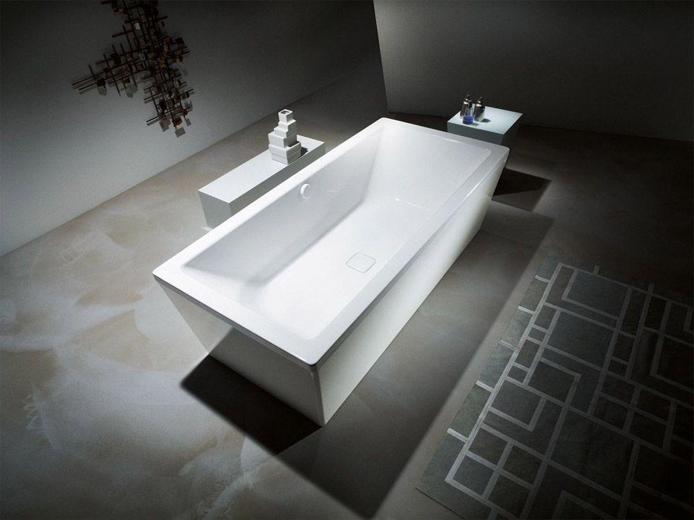 Vasca Da Bagno Acciaio Porcellanato : Vasca da bagno conoduo realizzata in acciaio smaltato con due