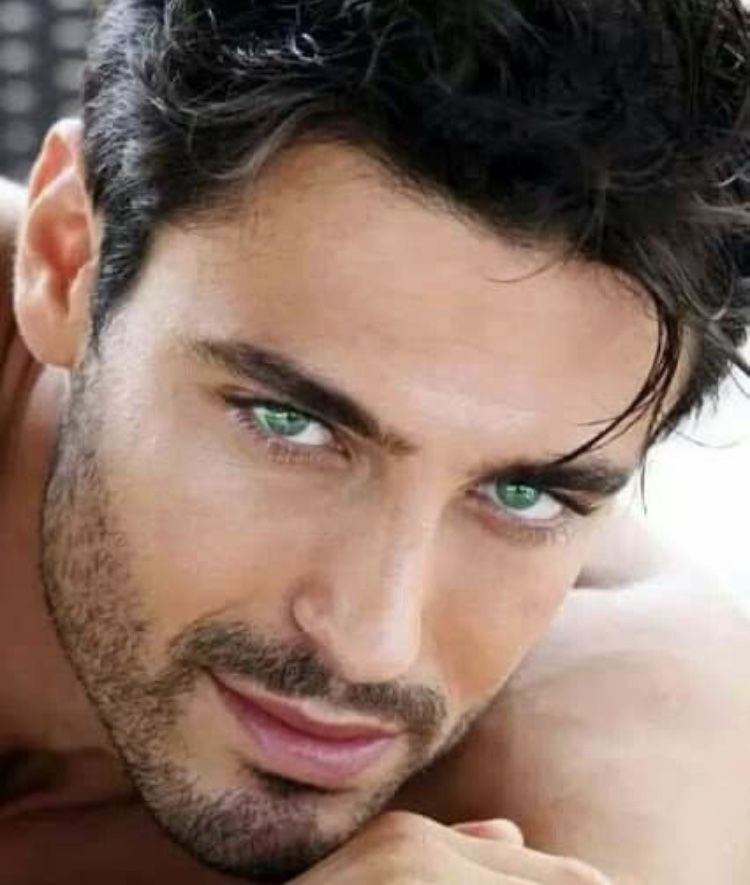 Green hot eyes with men Green