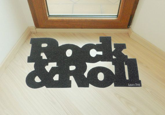Cool Design Doormat Rock Roll By Xatara On Etsy 45 00 Decoration Nate Berkus Decor Diy