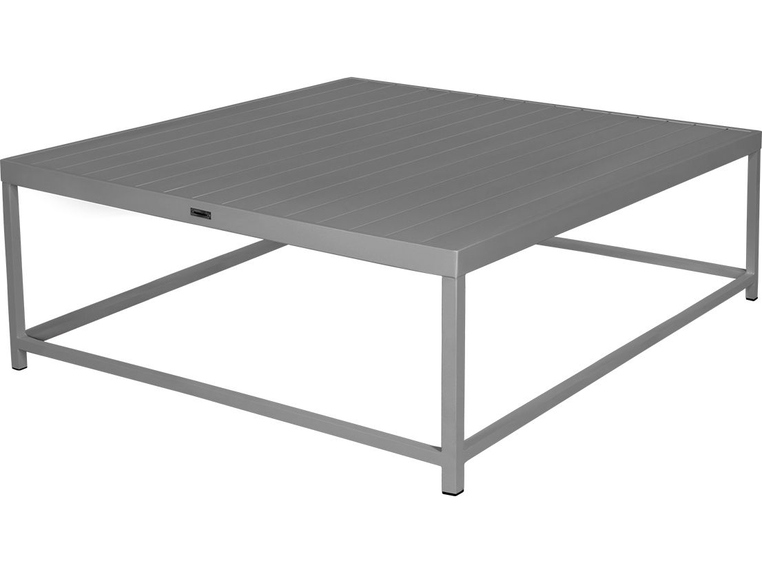 Source Outdoor Furniture Delano Aluminum 42 Square Coffee