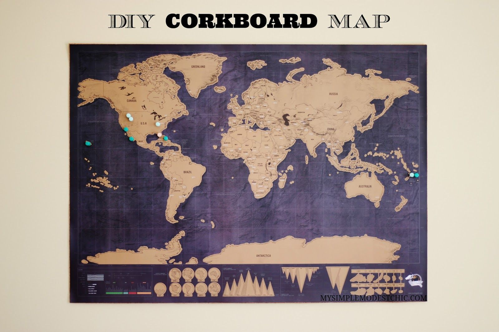 Map corkboard diy tutorial world adventure discover maps map corkboard diy tutorial world adventure discover gumiabroncs Gallery