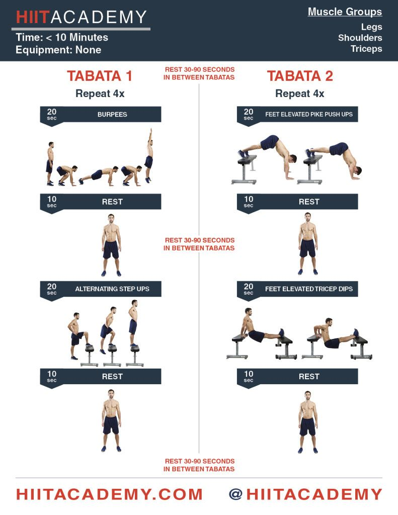 finish this tabata hiit workout in under 10 minutes from hiit academy workouts pinterest. Black Bedroom Furniture Sets. Home Design Ideas