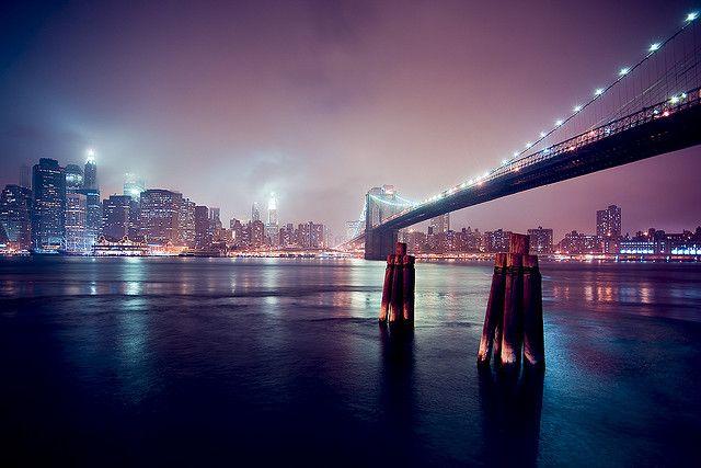 Brooklyn Bridge Bridge Wallpaper Night Skyline Hd Landscape Brooklyn bridge hd wallpaper