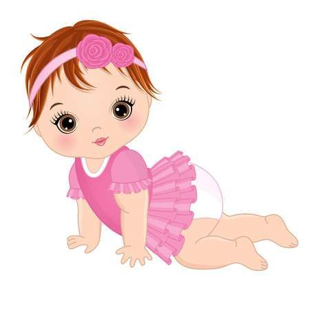 123rf Millions Of Creative Stock Photos Vectors Videos And Music Files For Your Inspiration And Proje Baby Girl Drawing Baby Illustration Baby Girl Clipart