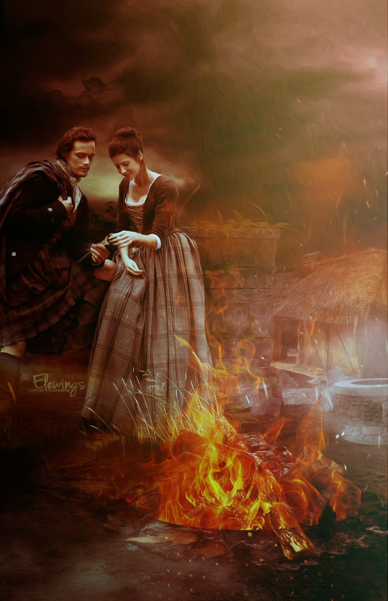 """EleWings Art on Twitter: """"@caitrionambalfe @SamHeughan  another Fanart. Outlander inspire me all the time. Love from France <3 https://t.co/bGY1yhRwYe"""""""