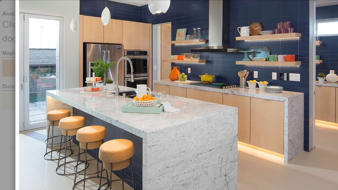 Cabinets and island counter | Kitchen slab, Replacement ...