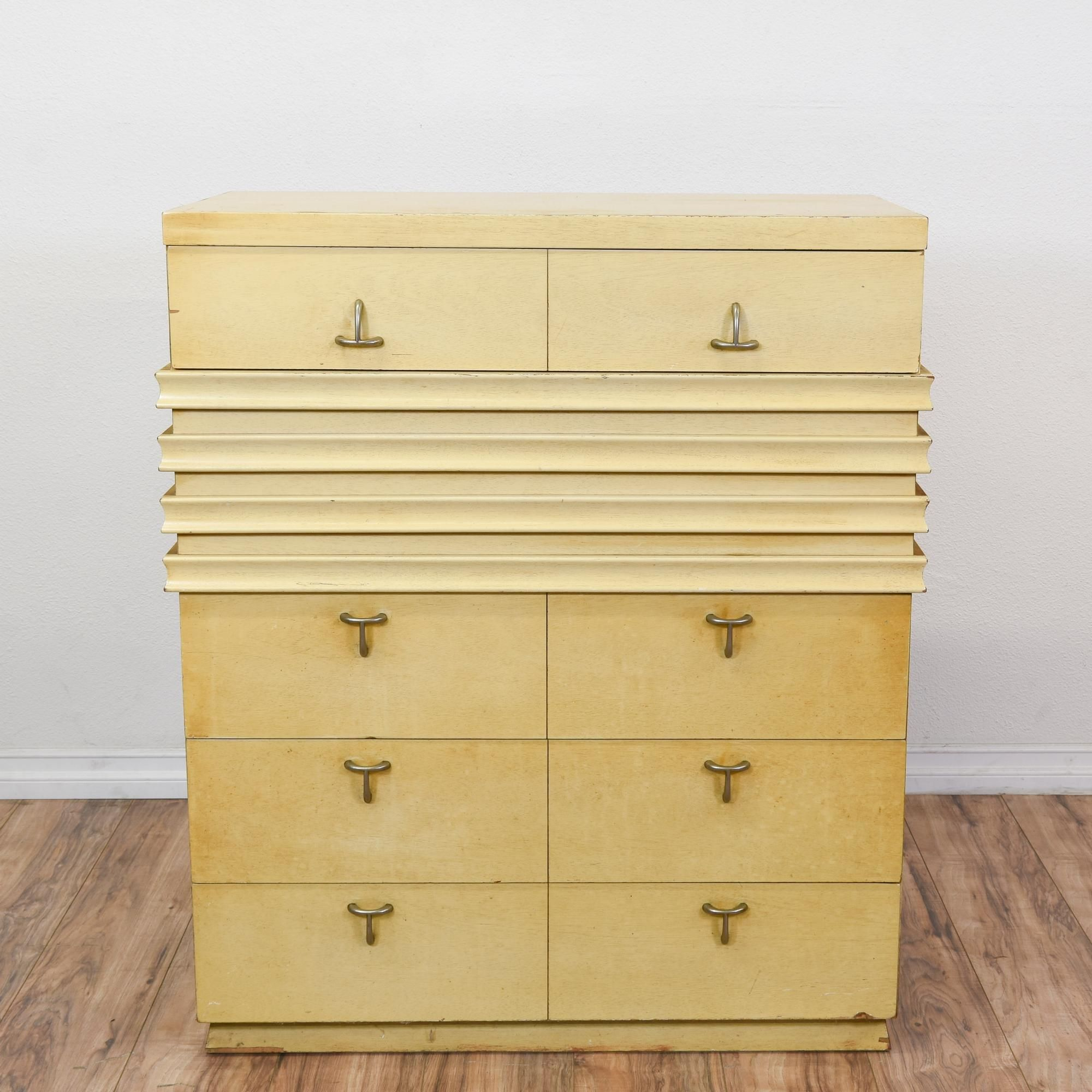 Best American Of Martinsville Blonde Wood Highboy Mid 640 x 480