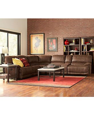 Jedd Fabric Power Reclining Sectional Sofa Collection  sc 1 st  Pinterest : jedd sectional - Sectionals, Sofas & Couches