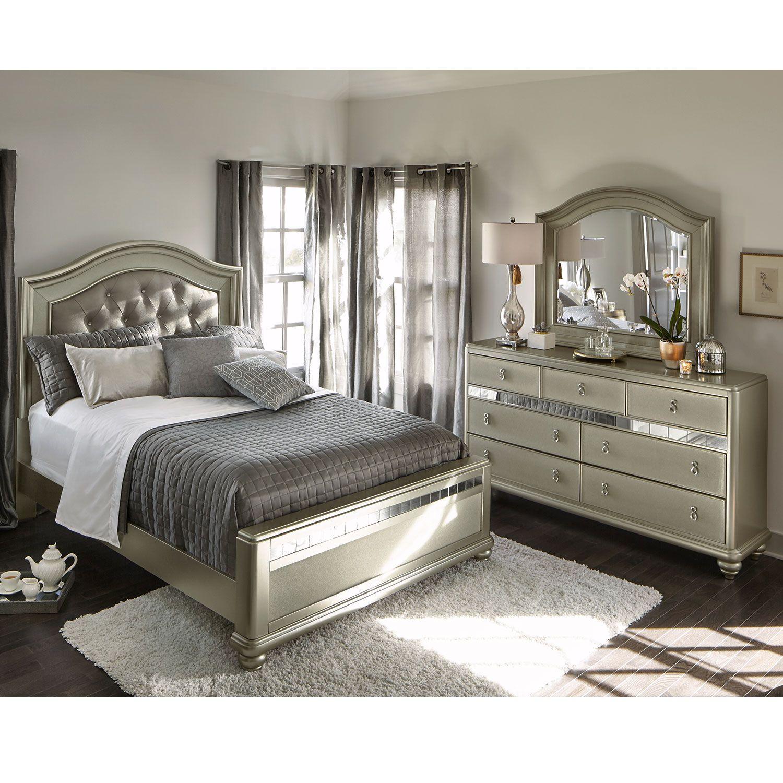 Bedroom Furniture Serena King 5Piece Bedroom Set