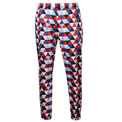 9c2380f1f5 UK Golf Gear - Slazenger Mens Funky Golf Trousers Pants Bottoms Zip Graphic  Design Standard Fit
