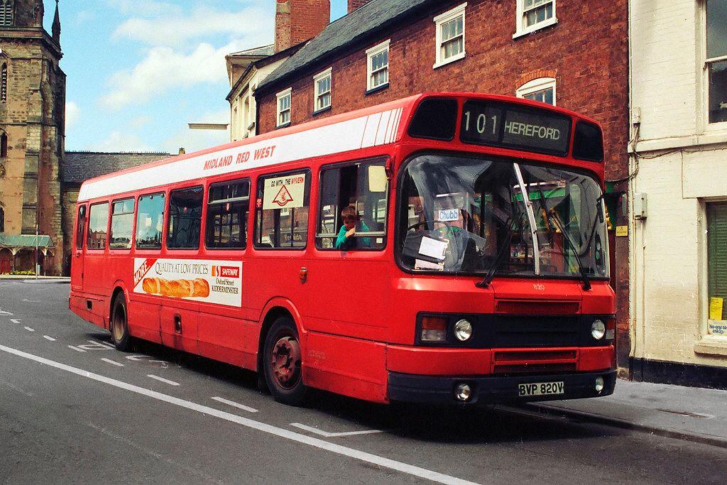 BVP820V in 2020 Midland, Red bus, Leyland