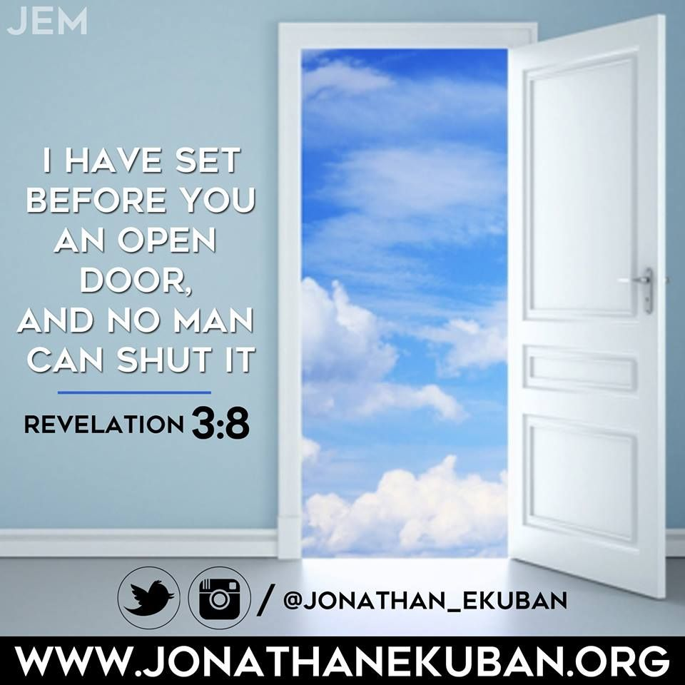 I Have Set Before You An Open Door And No Man Can Shut It