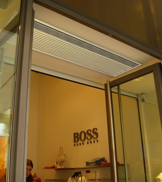 Commercial Entrances Recessed Air Curtains Curtain Installation