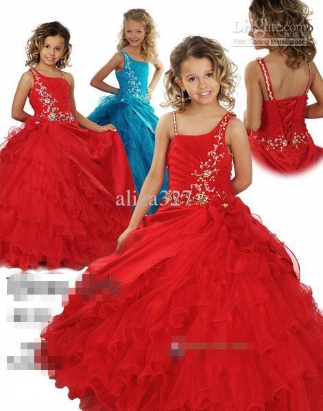 Robe princesse rouge fille