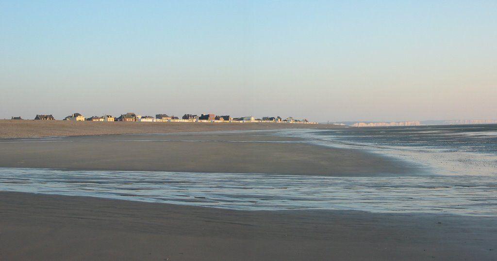 Cayeux-sur-Mer France  -  marée basse  (  low tide  )